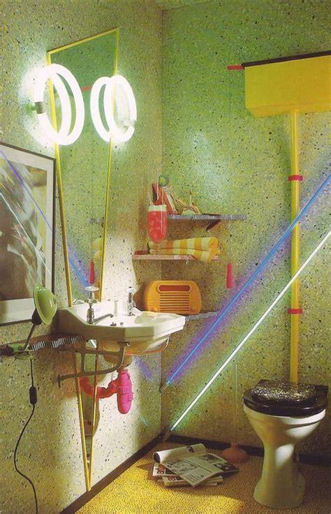 bathroom vintage retro interior