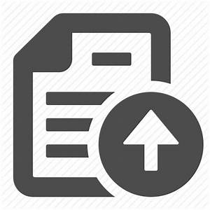 arrow button document file page up upload icon With documents upload icon