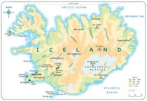 Iceland Physical Features Map