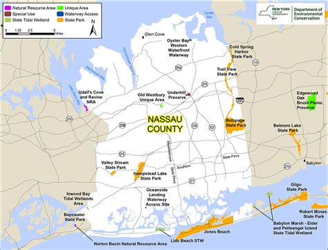 nassau county map nys dept  environmental conservation