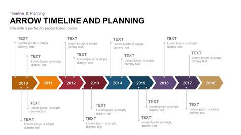 arrow timeline  planning template  powerpoint