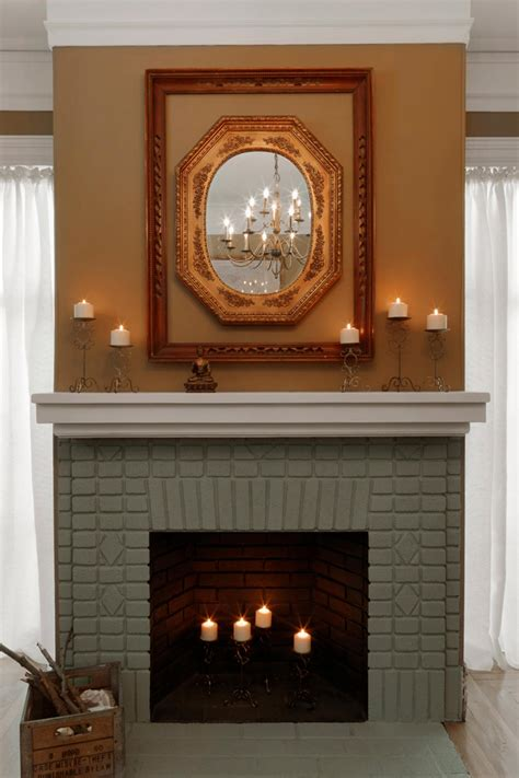 painted fireplace painted brick fireplace makeover how tos diy