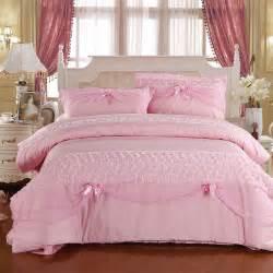 100 cotton princess lace bow piece set pink cotton