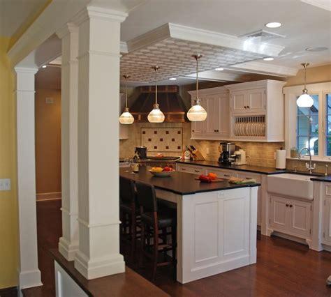 kitchen half wall ideas half wall and pillar idea our kitchen ideas