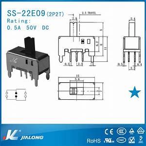 Dpdt 3 Position 2 Pole Locking Dc Slide Switch Slide
