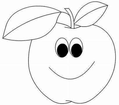 Coloring Faces Pages Face Fruit Cartoon Apple