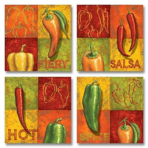 funky unique  cute pepper wall art kitchen wall