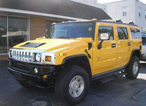 Yellow 2004 Hummer H2 Truck Photo