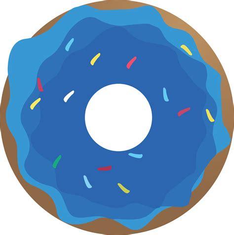 Donut Clipart Doughnut Clipart Blue Pencil And In Color Doughnut