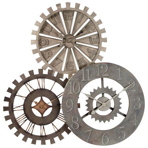 pendule de cuisine originale horloge en métal d 92 cm rouages maisons du monde
