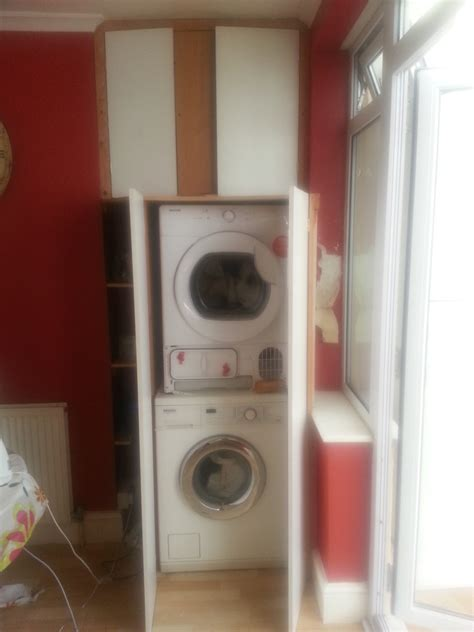 Tumble Dryer In Cupboard by Build Cabinet Around Stacked Washer Tumble Dryer Joinery