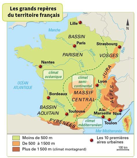 Carte De Avec Villes Fleuves Et Montagnes by Fleuves Montagnes Domaines Climatiques Fa 231 Ades