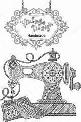 Sewing Machine Coloring Kleurplaten Macchina Coser Decorative Cucire Maquinas Flowers Naaimachine Dibujo Ornaments Szycia Dibujos Gli Maquina Decoratieve Adulti Volwassenen sketch template