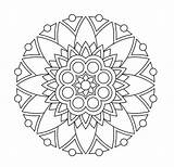 Mandala Coloring Pages Simple Easy Printable Print Getcolorings sketch template