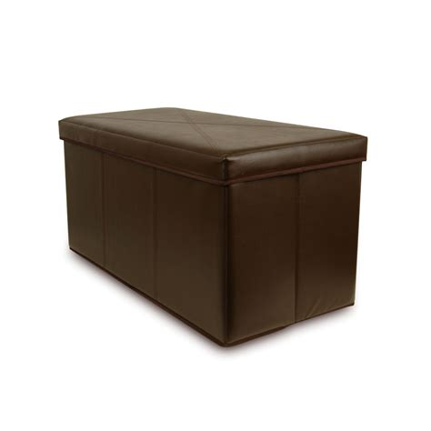 where to buy ottomans collapsible faux leather storage ottoman bench brown ebay