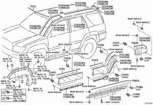 2007 Toyota 4runner Clip  Outside Moulding  No  2  Outside