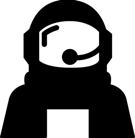 astronaut helmet protection  outer space svg png icon