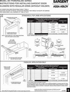 Lcn4011 Door Closer Installation Instructions