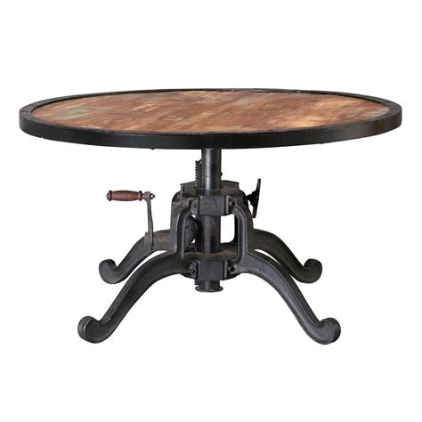 adjustable height round coffee table home decorators collection industrial 36 in round