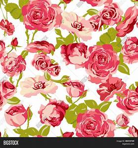 Vintage Seamless Roses Background Vector & Photo | Bigstock
