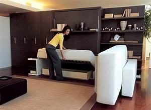 Canapé Lit Petit Espace : lit gain de place et meubles pour am nagement petit espace ~ Premium-room.com Idées de Décoration