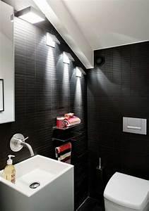Black bathroom design ideas for Black toilet bathroom design