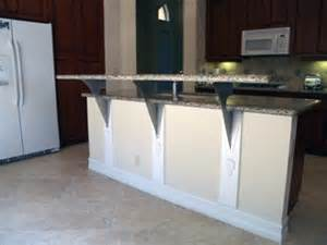 granite top kitchen island cart you heard of floating countertop support brackets
