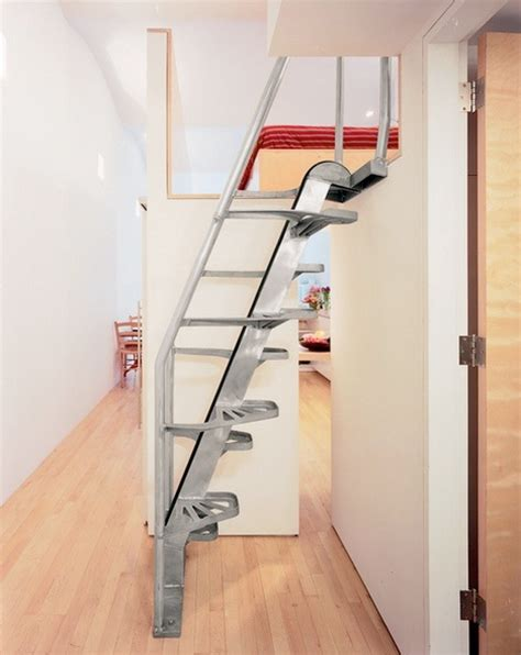 compact stair design steps to saving space 15 compact stair designs for lofts urbanist