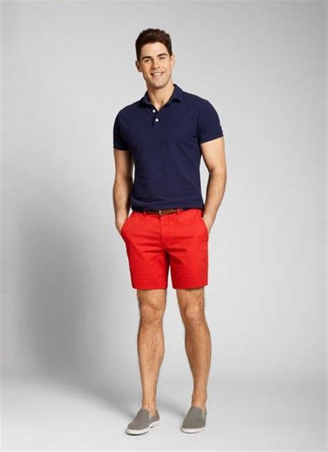 Red Seven-Inch Washed Chino Shorts for Men   Bonobos   Men Fashion   Pinterest   Summer Red ...