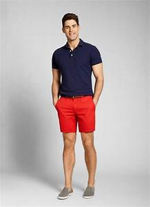 Red Seven-Inch Washed Chino Shorts for Men | Bonobos | Men Fashion | Pinterest | Summer Red ...