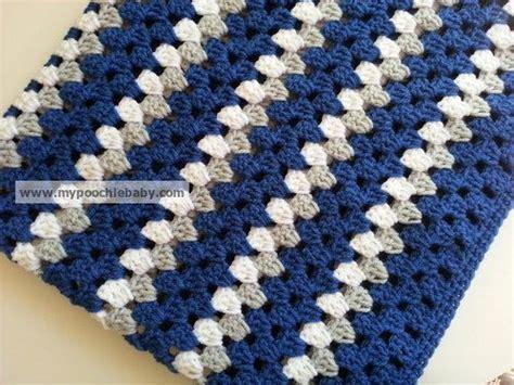 dallas colors large crochet baby blanket in dallas cowboy colors