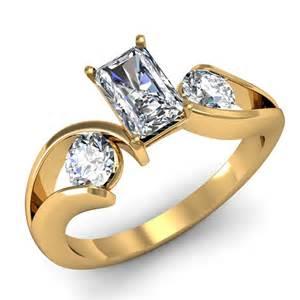 Past Present Future Diamond Engagement Ring