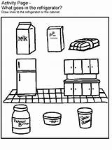 Coloring Nutrition sketch template