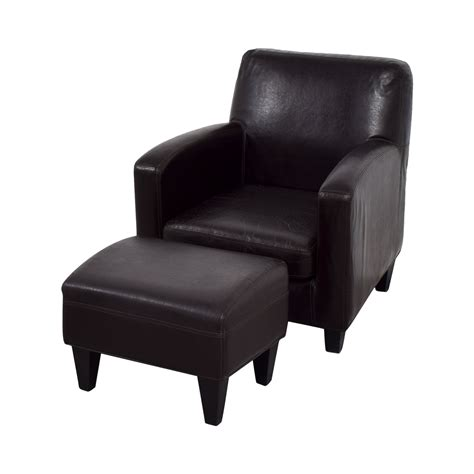 Ikea Leather Chair With Ottoman 52 ikea ikea bonded brown leather chair and ottoman