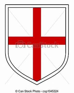 St george\'s shield. A black shield with the st george ...