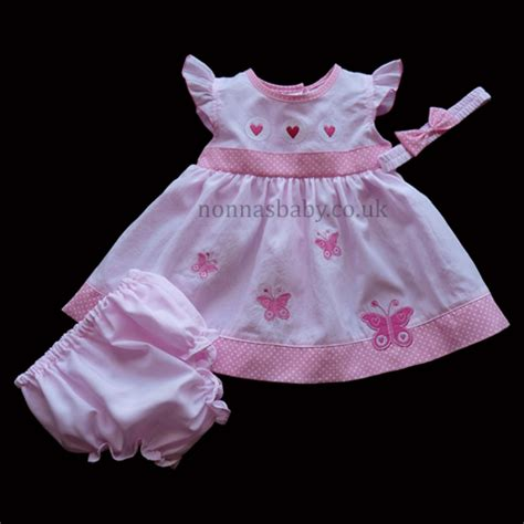 Dress Baby Angsa butterfly pink baby dress nonna s baby