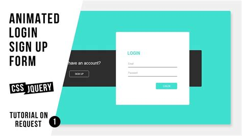 animated login sign up form css jquery
