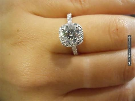 yes 1 5 carat cushion cut micropave halo exactly what i
