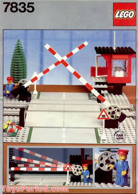 lego  manual road crossing set parts inventory