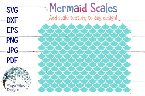 Mermaid Scales Svg By Wispy Willow Designs