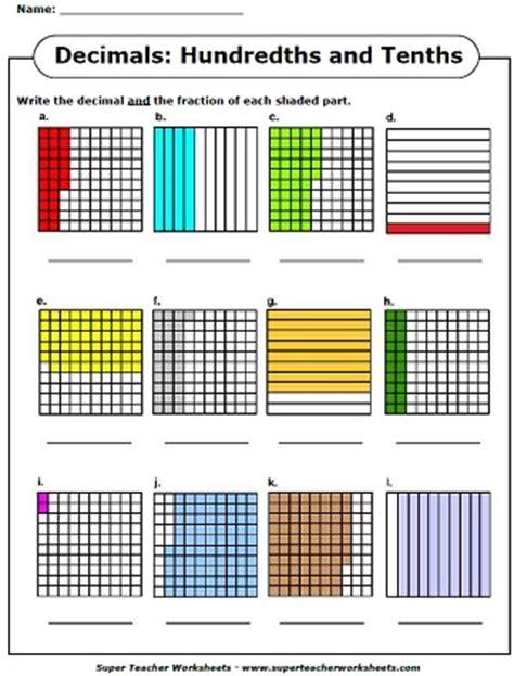 write  decimals    pictorial representation