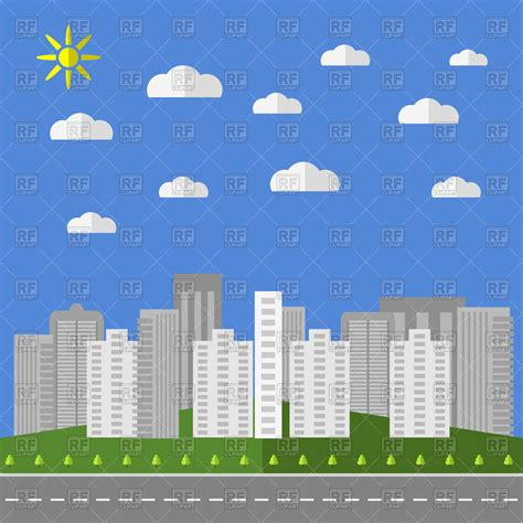 Clipart City City Background Royalty Free Vector Clip Image 90677
