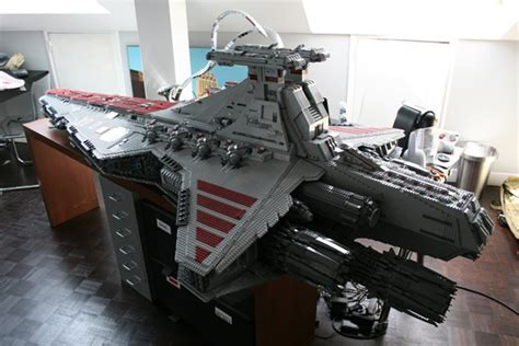 brick lego star destroyer  awesome