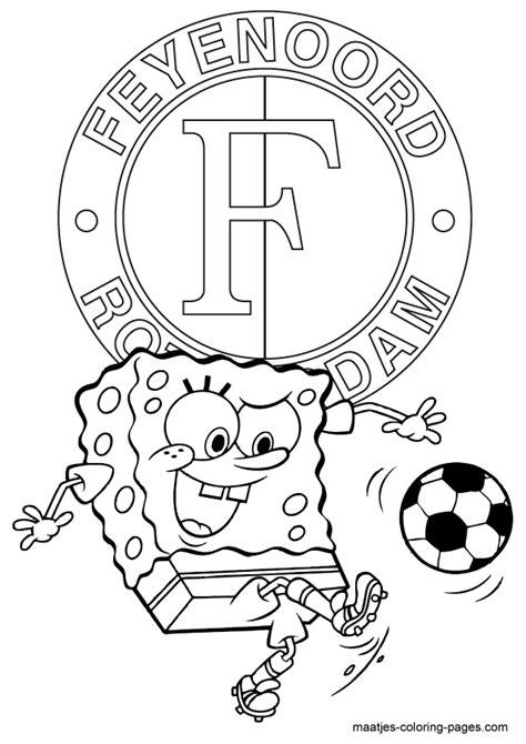 Feyenoord Kleurplaat by Voetbal Kleurplaten Eredivisie Clubs Nederland