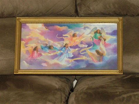 "Angels Home Interior Heavenly Angels"" Wall Picture"