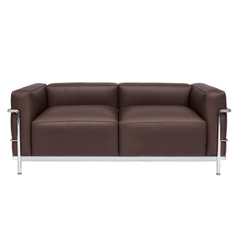 Le Corbusier Loveseat by Corbusier Designed Sofa Lc 32 Steelform Design Classics