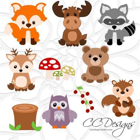 Woodland Animal Svg Set, Cute Baby Forest Animals Clip Art