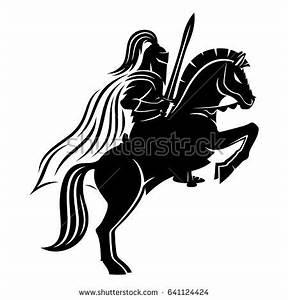 Knight On Horse Stock Vector 641124424 - Shutterstock
