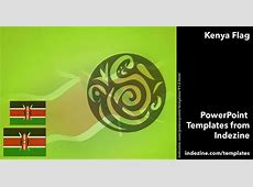 Kenya Flag 01 PowerPoint Templates