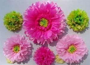 Blumen Aus Seidenpapier : blumen zum muttertag basteln h bsche chrysanthemen in rosa pink und gr n zuk nftige ~ Orissabook.com Haus und Dekorationen